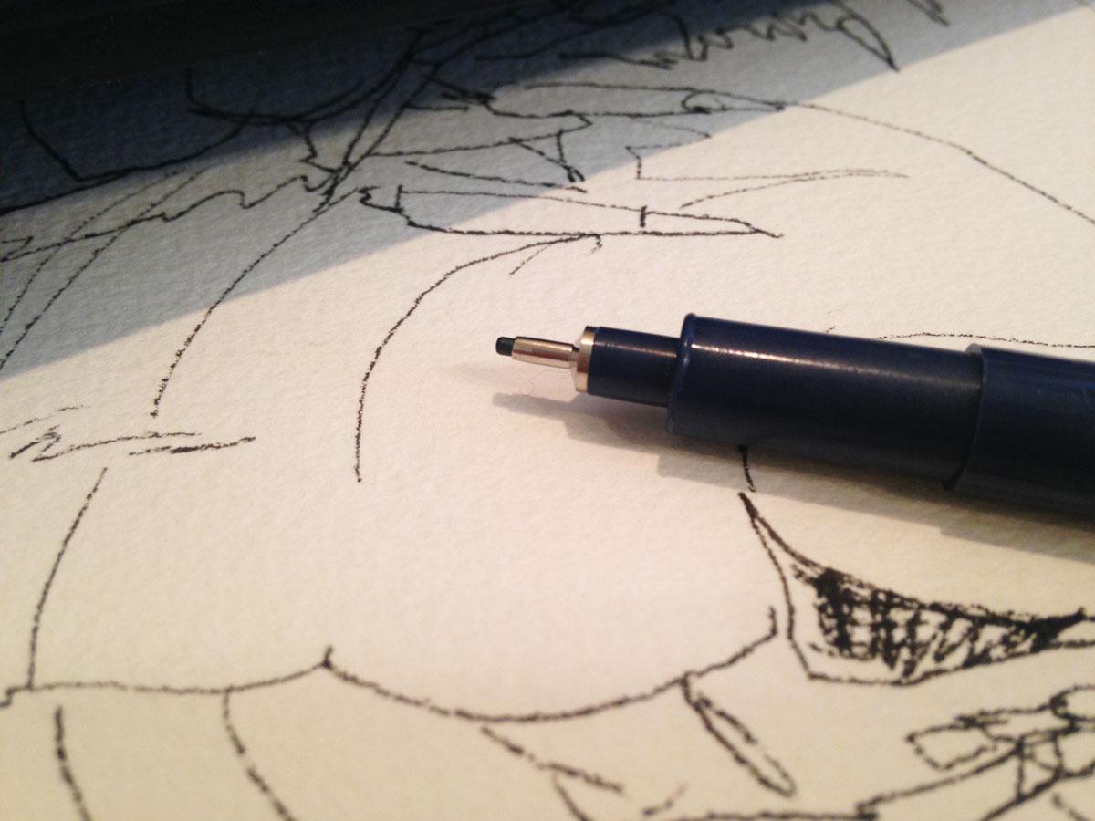 ペンで描くアナログイラスト