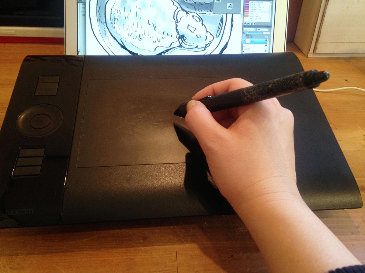 ペンタブレットで描くデジタルイラスト