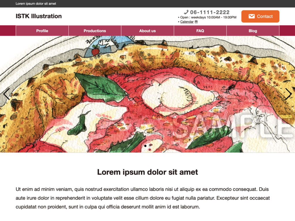 The image for ISTK Portfolio WordPress theme screenshot.